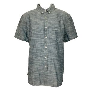 Adriano Goldschmied Shirt XL Blue Button Front